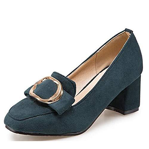 Fall Pump QOIQNLSN Comfort Green Heels Shoes Black Chunky Brown Women'S Spring amp; Heel Basic Green Polyurethane Pu nqSFY1qz