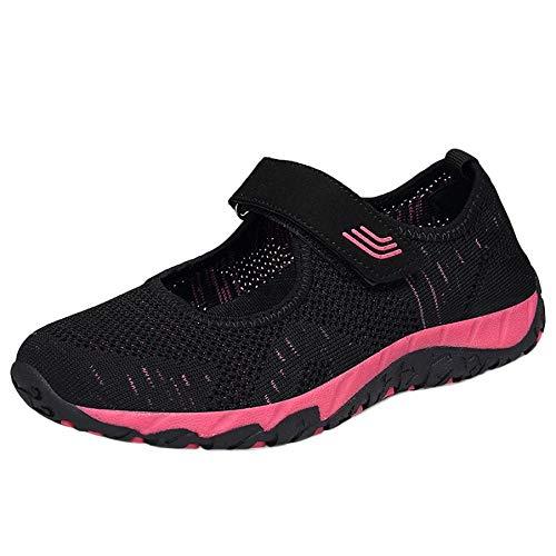 Deportivo Zapatillas Respirable Calzado Sandalias Zapatosde Fitness Mocasines Zapatilla Logobeing Casual Malla Plataforma Negro Correr Deportes Antideslizantes Mujer gE7qwH