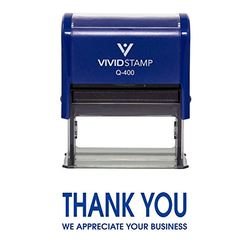 Thank You We Appreciate Your Business Self Inking Rubber Stamp  Blue Ink    X Large