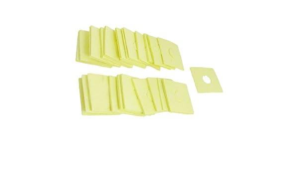 Sourcingmap a12060600ux0034-40 piezas de 60 x 60 x 1.8mm soldador soldadura esponja amarilla: Amazon.es: Bricolaje y herramientas