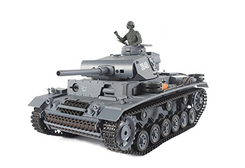 Heng Long 1:16 RC German Panzer Kampfwagen III Remote Controlled Battle - Battle Radio Controlled Tank Scale