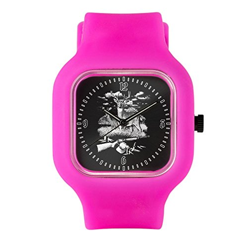 Bright Pink Fashion Sport Watch Deer Hunting Buck Doe Rifle and Hat by Royal Lion (Image #1)