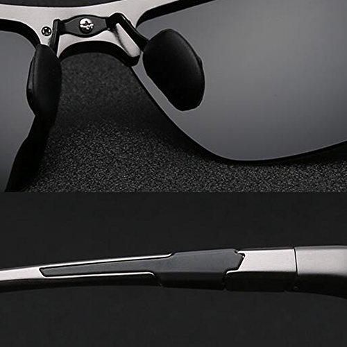 De Color Hombres 100 WYYY Libre UVA Borde Anti black Black Black Protección Sol Protección Solar Gafas Polarizada Aire Sin Conducción Gafas Black Gafas UV De Clásico Luz 1qqXWr0B
