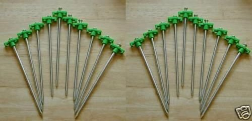 20 x SupaGarden Metal Rock Pegs, Ideal For Awnings, Tents, Camping Etc #SGCP7X2 Sunnflair