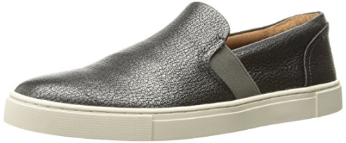 Designer Wear Shoes - FRYE Women's Ivy Slip Fashion Sneaker, Pewter, 8.5 M US