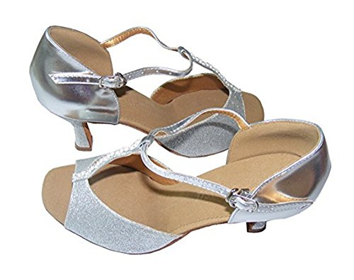 Colorfulworldstore silver dance shoes Latin EU36~EU41 thin Silver a beads flash T of Ladies of fonts With rw7qfxr10