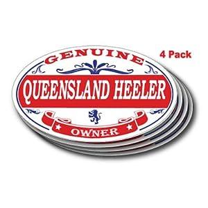 US Decal, Inc. Queensland Heeler Oval Sticker - 4 Pack 7