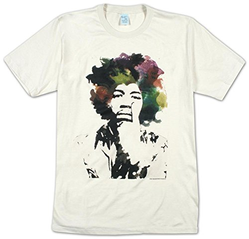 Jimi Hendrix T-shirt – Point Adult Dirty White Tee Shirt (XL)