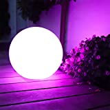 Large Party Decoration Ball 13 Colors Changing Multi Modes Waterproof & Inflatable Beach Ball with Remote Control Floating Pool Party Favor for Home, Garden, Halloween -16 inch