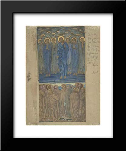 Sir Edward Burne-Jones - 15x18 Framed Museum Art Print- Ascension of Christ (Acts I, 1-9): Study for Stained-Glass Window