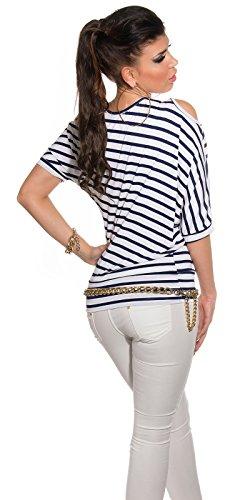 KouCla - Camiseta sin mangas - para mujer azul oscuro