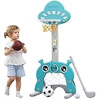 Aro de baloncesto para niños Centro de actividades deportivas 5 en 1 Grow-to-Pro Ajustable Fácil puntaje Aro de…