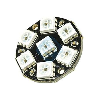 WS2812 7-Bit 5050 RGB LED Ring Round-Shaped Decoration Bulb for Arduino