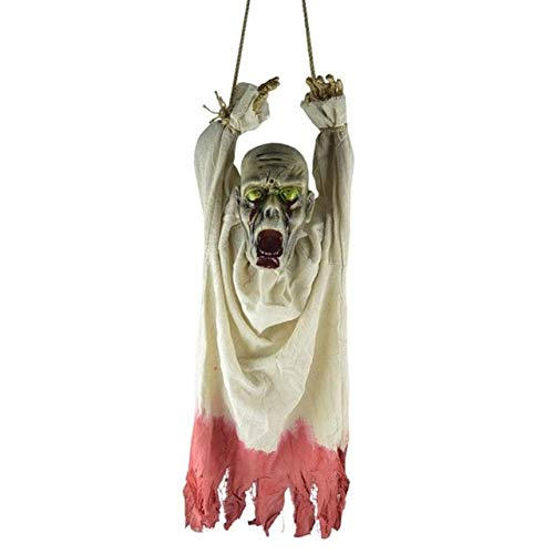 Sala-Tecco - Plastic Shining Skull Ghost Zombie Hanging Skeleton Ghost Halloween Decor Hanging Holiday Festive Home Decoration Party Supplies