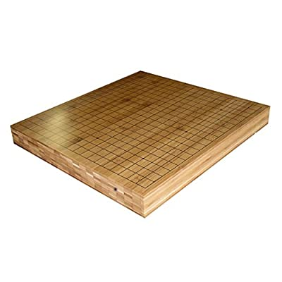 "THY COLLECTIBLES 2"" Reversible Solid Bamboo 19X19 Go Game and 13x13 Quick Game Board: Toys & Games"