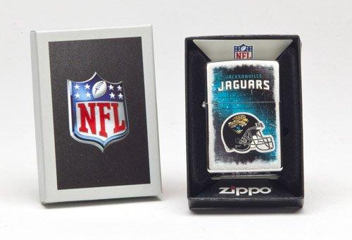 (Zippo NFL Jacksonville Jaguars Lighter, Silver, 5 1/2 x 3 1/2cm )