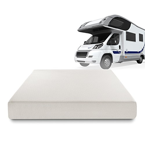 Zinus Deluxe Memory Foam 8 Inch Rv Camper Trailer Truck Mattress Short Queen