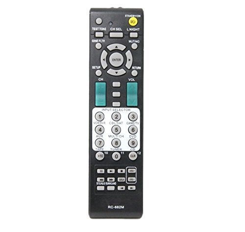 RC-682M RC682M Replacement Remote Control for ONKYO RC-649M RC-647M RC-608M RC-651M RC-650M A/V Receiver