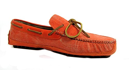 Cole Haan Grant Canoe. Camp. Moc Men US 10 Orange Loafer