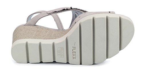 Sandal Flexx Wedge Light Grey Wow The Woman Pow xfCdII8q