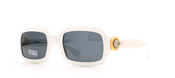 28a71b4f6dd5 Gianfranco Ferre 389 C29 White Rectangular Certified Vintage Sunglasses For  Womens  Amazon.co.uk  Clothing