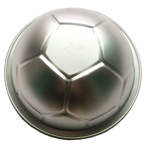 Funshowcase Large 3D Novelty Sports Soccer Ball Metal Pastry Baking Pan Mold 9.3inch