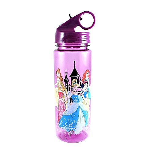 Disney Princess Bottle - Silver Buffalo DP0164 Disney Princesses Tritan Water Bottle, 20-Ounces