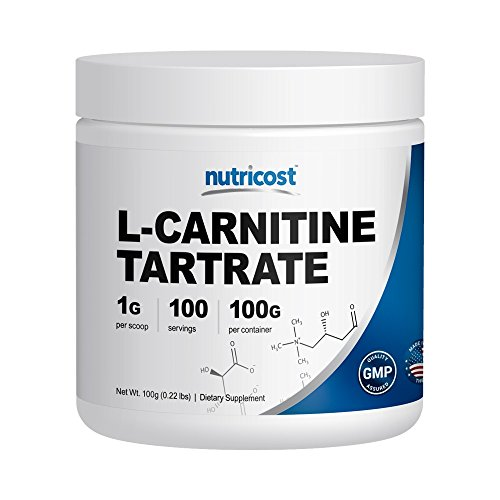 Nutricost L Carnitine Powder 100 Grams 1 Gram per Serving; 100 Servings L Carnitine Tartrate