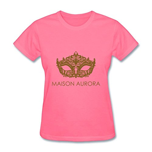Heerinsy Women's Maison Aurora Logo With Eye Brows Color Short Sleeve T-Shirt XXL