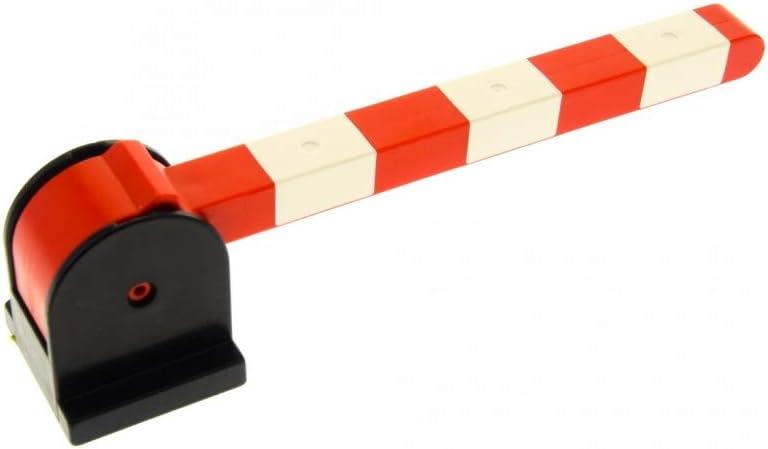 Bausteine gebraucht 1 x Lego Duplo Schranke schwarz wei/ß rot Hebel kurz f/ür Eisenbahn Schiene Zug Bahn/übergang Bahnschranke 6405c02