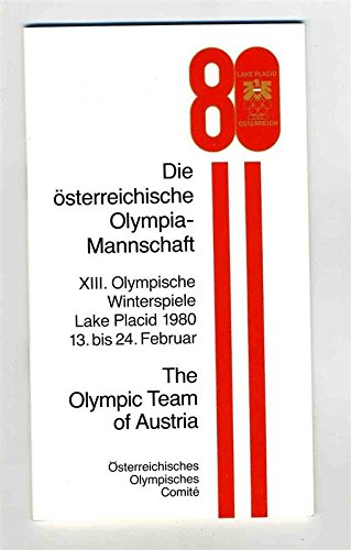 1980 Lake Placid XIII Olympic Winter Games Olympic Team of Austria Booklet