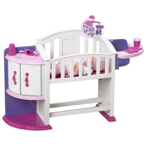 Toy / Game Wonderful American Plastic Toy My Very Own Nursery Set with Crib, storage shelf and cupboard by 4KIDS by 4KIDS