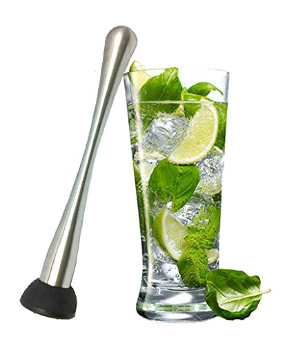 Extra Long (9.1'') Cocktail Muddler - Premium Stainless Steel by FeschDesign (Image #5)