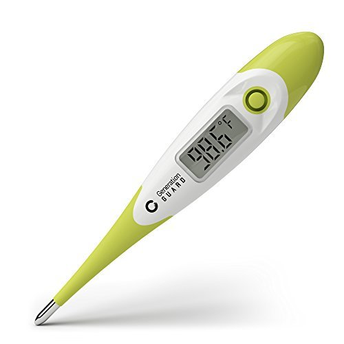 Clinical Digital Thermometer Best to Read & Monitor Fever Temperature in Quick 15 Seconds by Oral Rectal Underarm & Axillary - Professional Thermometers & Reliable Readings for Baby Adult Children from Generation Guard
