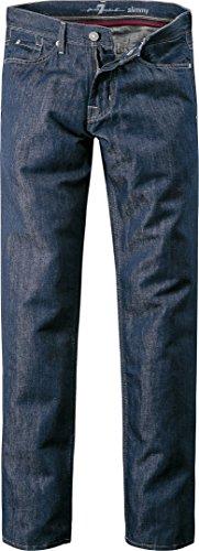 7 for all mankind Herren Jeans Baumwolle Denim-Hose Unifarben, Größe: 34/34, Farbe: Blau