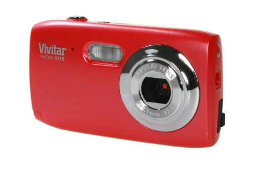 Image of Vivitar V5118-RH 5.1 MP Digital Camera with 4x Optical Zoom - Red