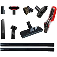 Vacuum Attachments Accessories Cleaning Kit Vacuum Brush Nozzle Crevice Tool VAC Upholstery Tool Hose Adapter Dusting Brush for 1 1/4 inch& 1 3/8 inch Standard Hose 9pcs
