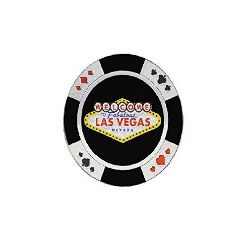 (Las Vegas Casino Chips Classic Souvenir Refrigerator Magnet (Black))