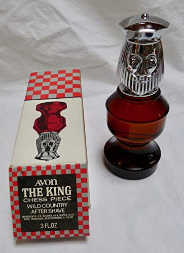 Avon The King Chess Piece Wild Country After Shave 3 FL OZ 1970s