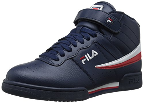 Fila Men's F-13V Lea/Syn Fashion Sneaker, Navy/White Red, 9.5 M US
