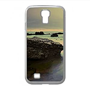 Cloudy Day And Sea Rocks Watercolor style Cover For Case Iphone 6Plus 5.5inch Cover (Beach Watercolor style For Case Iphone 6Plus 5.5inch Cover