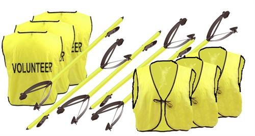 (ArcMate Volunteer Kit LITE, Includes Bright Vinyl Safety Vests with