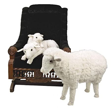 Sheep Animal Foot Rest Ottoman