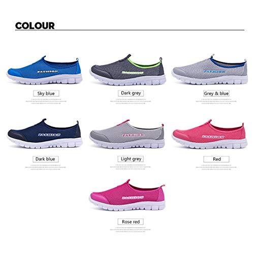 Scarpe Scarpe Tennis Sneakers Scarpe Coppia da Leggeri Casual Lacci Traspiranti Amante Piatta Confortevoli da Corsa e Senza per da Suola Aqqn4xw61r