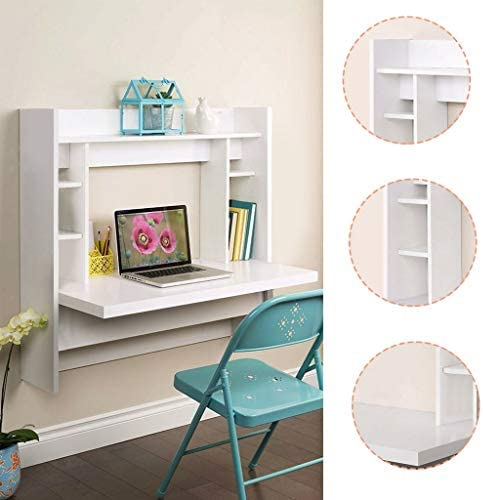 Us Fast Shipment Modern White Wall-Mounted Desk