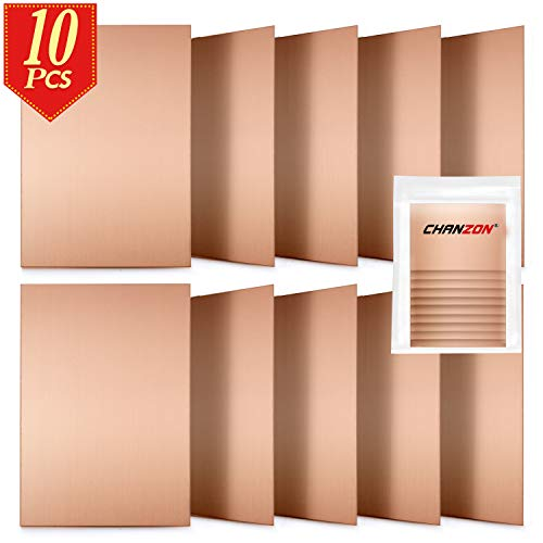 Chanzon 10 Pcs Single Sided Copper Clad Laminate PCB (7x10 cm 4x2.7 inch) Copper Plated Universal Circuit Prototype Board FR4 for Etching DIY Pcbs Kit
