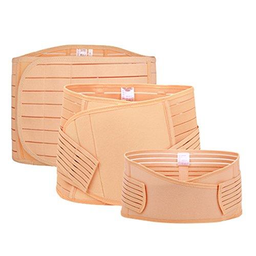 Belly Wrap, Licoers 3 In 1 Postpartum Support - Recovery Belly Wrap Girdle Support Band Belt Body Shaper Waist Trimmer Belt (S, Stripe) Stripe Double Wrap Belts