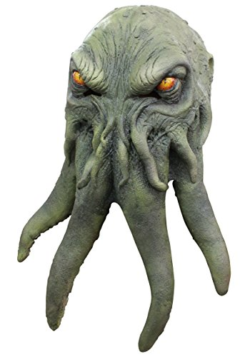 (Cthulhu Green Octopus Monster - Adult Costume Mask for)