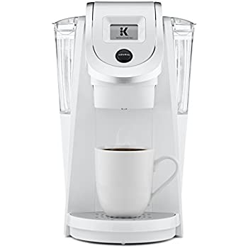 Keurig K250 Single Serve, K-Cup Pod Coffee Maker with Strength Control, Programmable, White