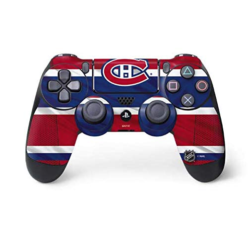 (Skinit Montreal Canadiens Home Jersey PS4 Controller Skin - Officially Licensed NHL Gaming Decal - Ultra Thin, Lightweight Vinyl Decal Protection)
